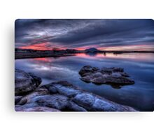 Cold Water Sunset Canvas Print