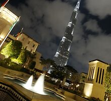 Burj Khalifa - Cloudy Night by Sammy77