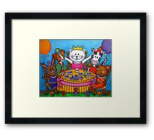The Little Tea Party Framed Print
