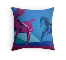 Mustang Due Throw Pillow