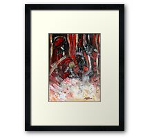 The Passion and The Fury Framed Print