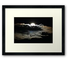 Moon and clouds Framed Print