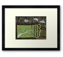 breathe in, let go... Framed Print