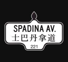 Spadina Avenue, Toronto Street Sign, Canada Kids Tee