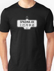 Spadina Avenue, Toronto Street Sign, Canada T-Shirt