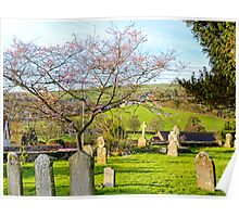 View From Uplyme Churchyard Poster