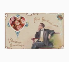 Candy Heart Recollections (Vintage Valentine Greeting Collage) Kids Clothes