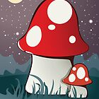 Magic mushrooms by Honeyboy Martin