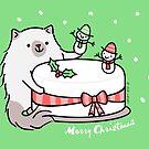 Himalayan Kitty Cat Decorating Christmas Cake by Zoe Lathey