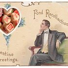 Candy Heart Recollections (Vintage Valentine Greeting Collage) by Welte Arts & Trumpery