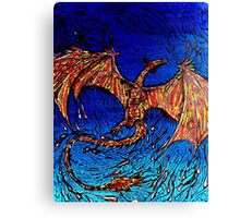 Lava dunked Dragon Canvas Print