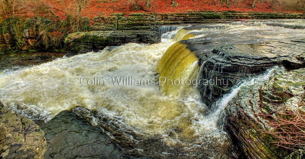 Lower Falls Aysgarth -  Panorama - HDR by Colin  Williams Photography