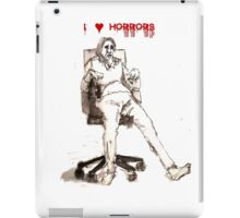 I love horrors. iPad Case/Skin