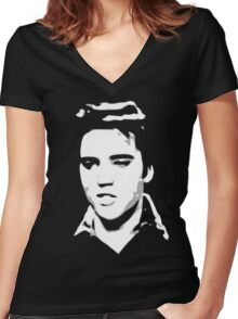 a elvis t-shirt Women's Fitted V-Neck T-Shirt