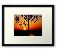Sunset on The Snake River-Twin Falls Idaho, USA Framed Print