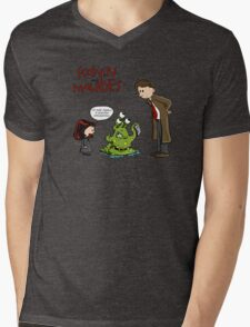 Scalvin and Maulbes Mens V-Neck T-Shirt