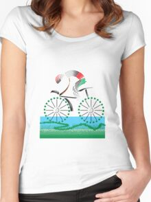 cyclist Women's Fitted Scoop T-Shirt