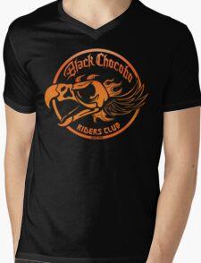 Black Chocobo Riders Club Mens V-Neck T-Shirt
