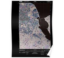 USGS Topo Map Washington State WA Sequim 20110419 TM Inverted Poster