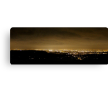 Nightshot of Manchester from Monk's Road Canvas Print