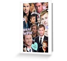 Chris Hemsworth/Thor Collage Greeting Card