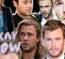 Chris Hemsworth/Thor Collage Sticker