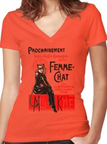 La Femme-Chat, Part Deux Women's Fitted V-Neck T-Shirt