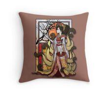 Kitsune of Sunset Throw Pillow