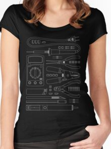 Hardware Hacker Tools Tee Women's Fitted Scoop T-Shirt