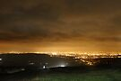 Approaching Car, Night, Monk's Road Glossop by Mark Smitham