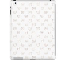 Moody Kitty Faces!(White) iPad Case/Skin