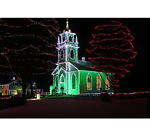 Church Decorated for Christmas Photographic Print