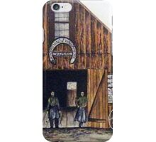 OAR AND BURKE BLACKSMITHING AND WAGONWORKS iPhone Case/Skin