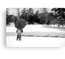 Solitude. A Peaceful Winter Photo in B&W Canvas Print