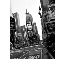 Times Square Black & White Photographic Print