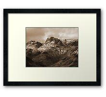 Sepia Pikes Framed Print