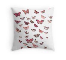 Flutter in Pinks Throw Pillow