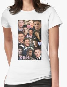 Dean Winchester/Jensen Ackles Collage Womens Fitted T-Shirt