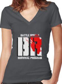 Battle Royale Logo Women's Fitted V-Neck T-Shirt