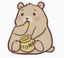 Cute Bear Eating Honey by crownedmoon