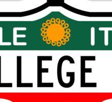 College Street, Toronto Street Sign, Canada Sticker