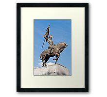 Manuel Belgrano statue. Framed Print