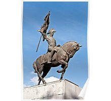Manuel Belgrano statue. Poster