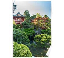 Waterfall, Japanese Tea Garden Poster
