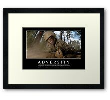 Adversity: Inspirational Quote and Motivational Poster Framed Print