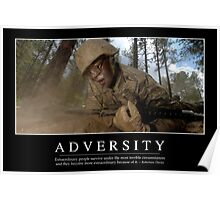 Adversity: Inspirational Quote and Motivational Poster Poster