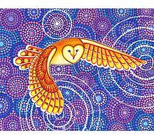Owl Pulsating Magic Photographic Print