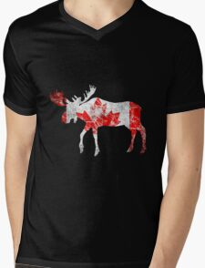 Canadian Moose Mens V-Neck T-Shirt