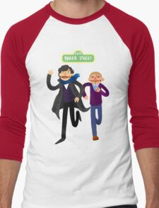 Puppety Sherlock and John Men's Baseball ¾ T-Shirt