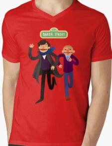 Puppety Sherlock and John Mens V-Neck T-Shirt